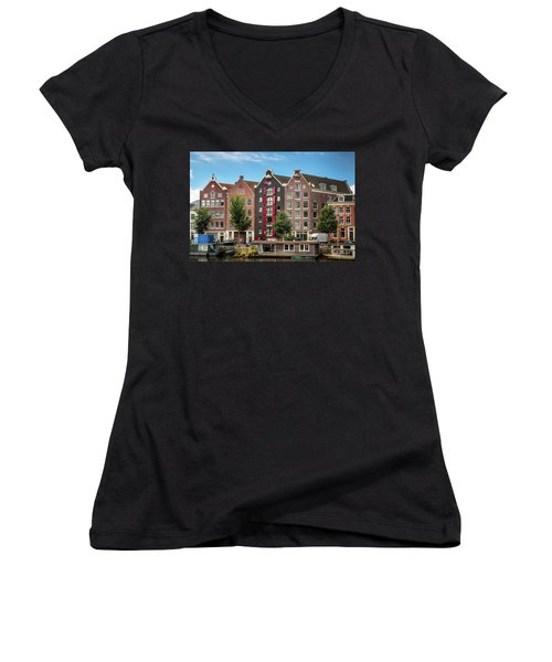 Pointing To The Sky Women's V-Neck
