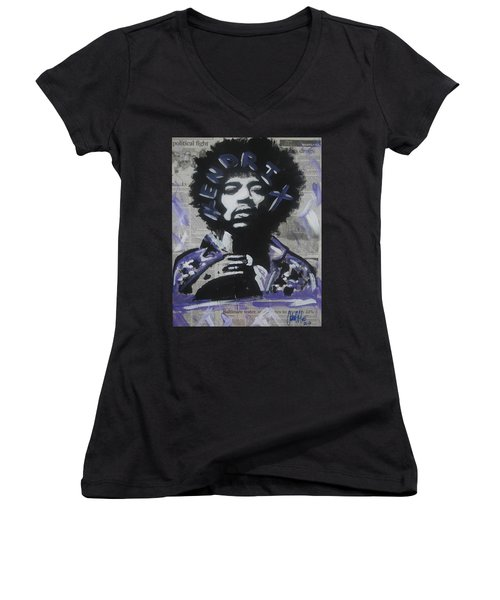 Political Jimi Women's V-Neck