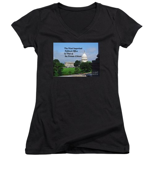 Political Statement Women's V-Neck T-Shirt