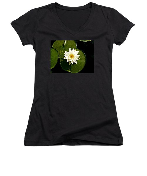 Pond Lily Women's V-Neck (Athletic Fit)