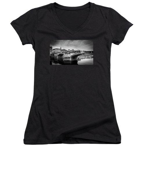 Ponte Santa Trinita Women's V-Neck T-Shirt (Junior Cut)