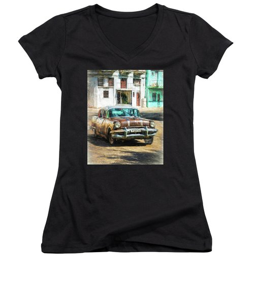 Pontiac Havana Women's V-Neck (Athletic Fit)
