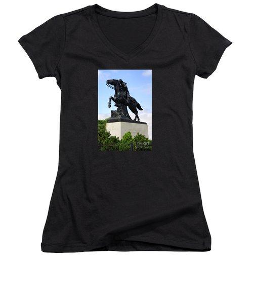 Pony Express Rider Women's V-Neck T-Shirt
