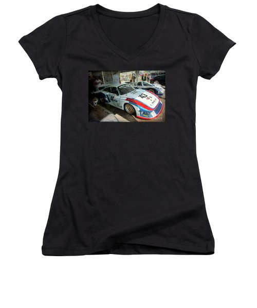Porsche 935 Moby Dick Women's V-Neck (Athletic Fit)