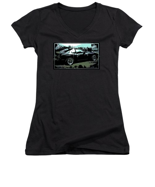 Porsche 944 Women's V-Neck T-Shirt