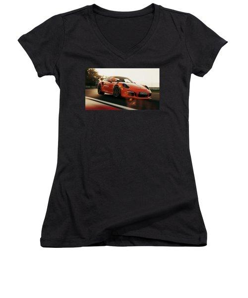 Porsche Gt3 Rs - 4 Women's V-Neck (Athletic Fit)