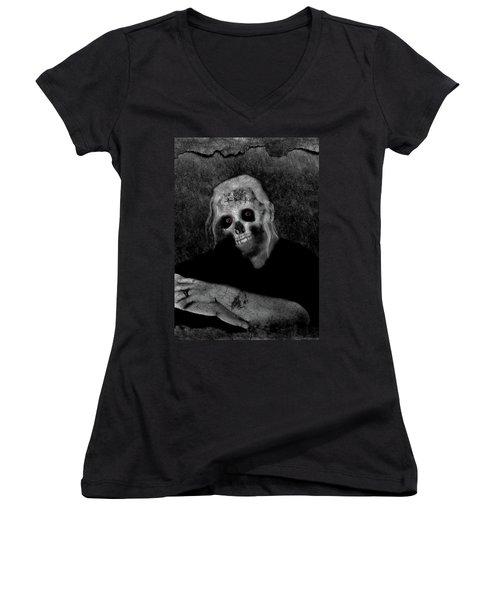 Portrait Of A Zombie Women's V-Neck