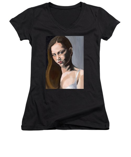 Portrait Of Amanda Women's V-Neck