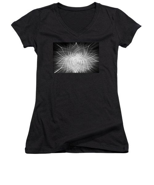 Positivity Women's V-Neck T-Shirt (Junior Cut) by Carolyn Marshall