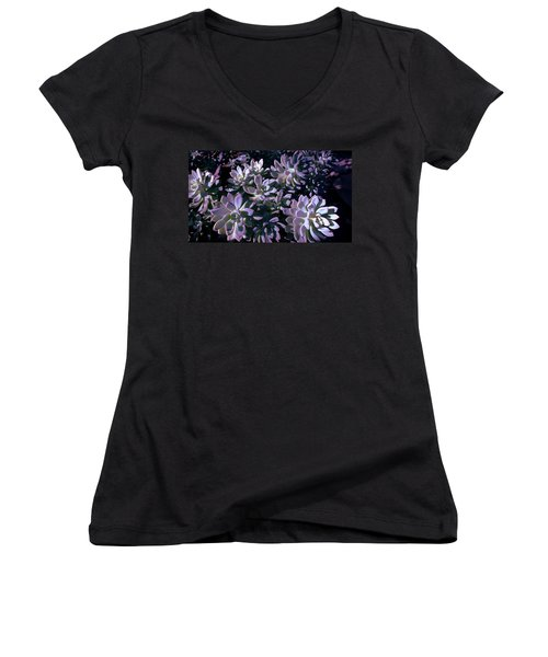 Pot Mates 3 Women's V-Neck T-Shirt (Junior Cut) by M Diane Bonaparte