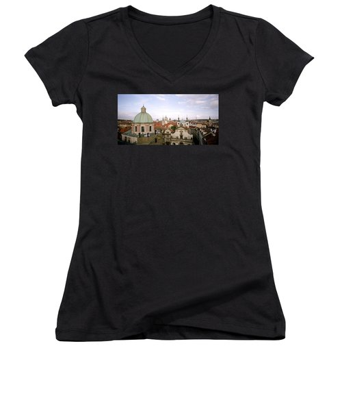 Prague Twilight Women's V-Neck T-Shirt