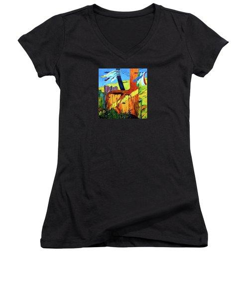 Prayer Flags Women's V-Neck T-Shirt