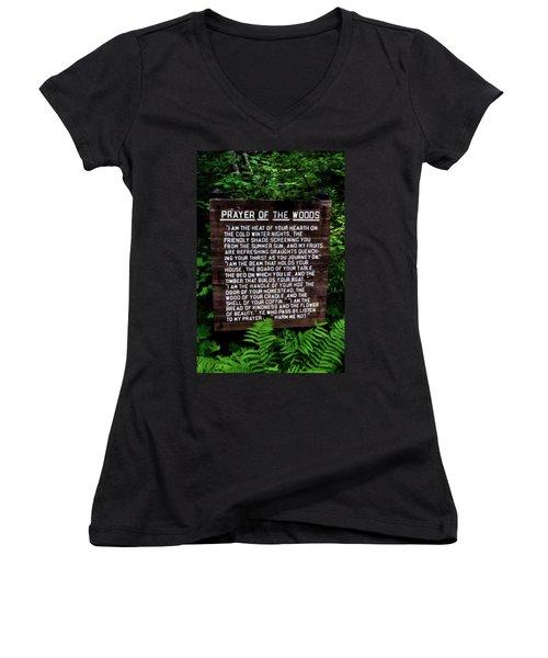 Prayer Of The Woods Women's V-Neck