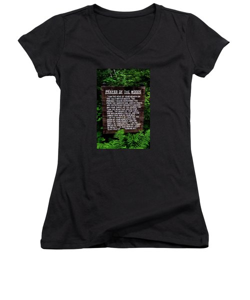 Prayer Of The Woods Women's V-Neck (Athletic Fit)