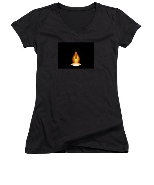 Prayer Shrine 1 Women's V-Neck T-Shirt (Junior Cut) by Richard Ortolano