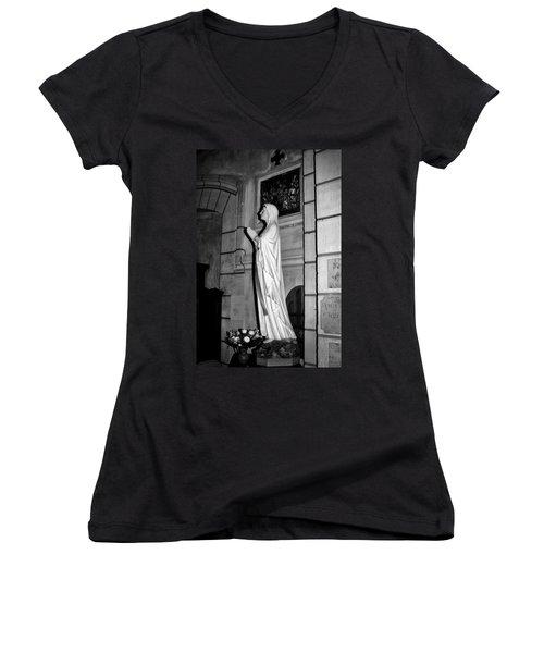 Praying Nun 2 Women's V-Neck T-Shirt