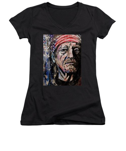 Precious Metals, Willie Women's V-Neck T-Shirt
