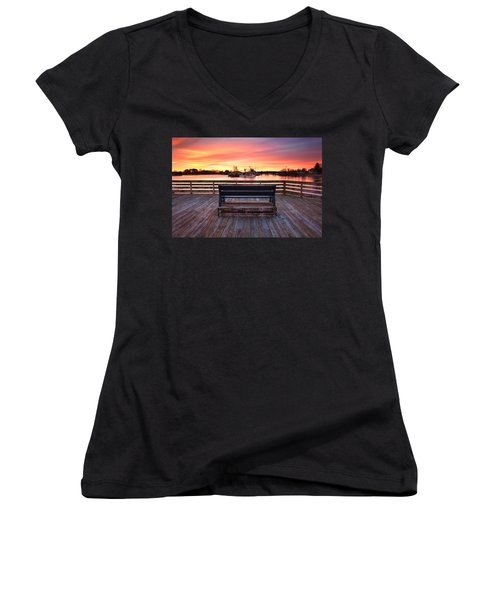 Prescott Pier Women's V-Neck T-Shirt