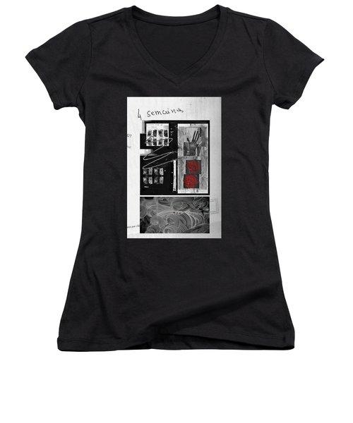 Prescription Women's V-Neck T-Shirt (Junior Cut) by Danica Radman
