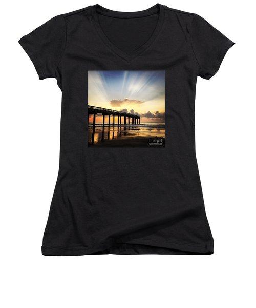 Presence Women's V-Neck T-Shirt (Junior Cut) by LeeAnn Kendall