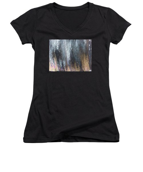 Pretty Hurts Women's V-Neck T-Shirt (Junior Cut) by Cyrionna The Cyerial Artist