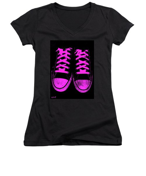 Pretty In Pink Women's V-Neck T-Shirt