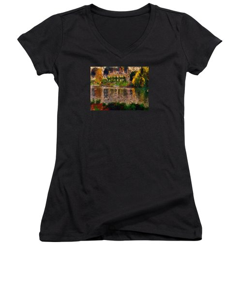 Pretty On The River Women's V-Neck (Athletic Fit)