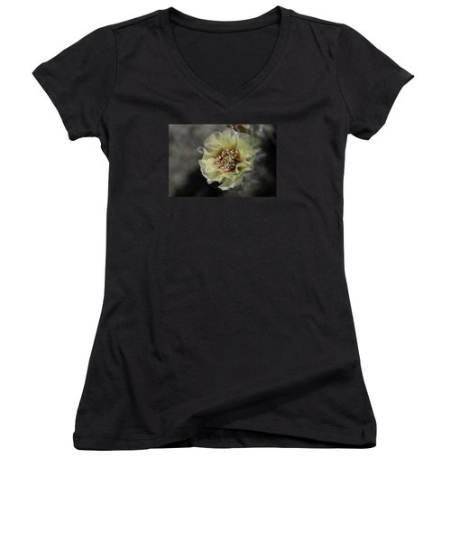 Prickly Pear Blossom 3 Women's V-Neck (Athletic Fit)