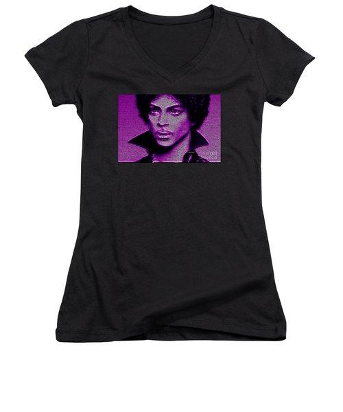 Prince - Tribute In Purple Women's V-Neck