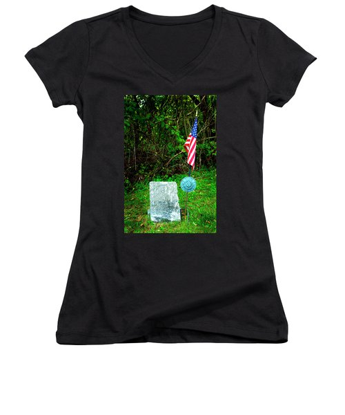 Women's V-Neck T-Shirt (Junior Cut) featuring the photograph Princess White Feather by Paul W Faust - Impressions of Light