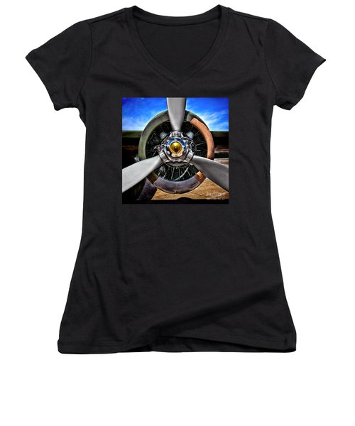 Propeller Art   Women's V-Neck