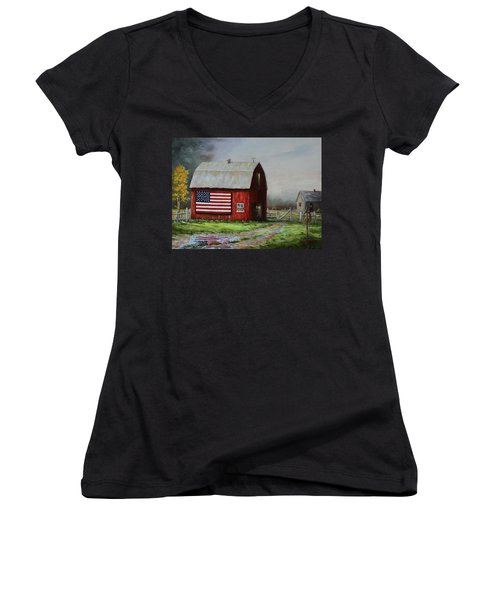Proud To Be A Puddle Women's V-Neck (Athletic Fit)