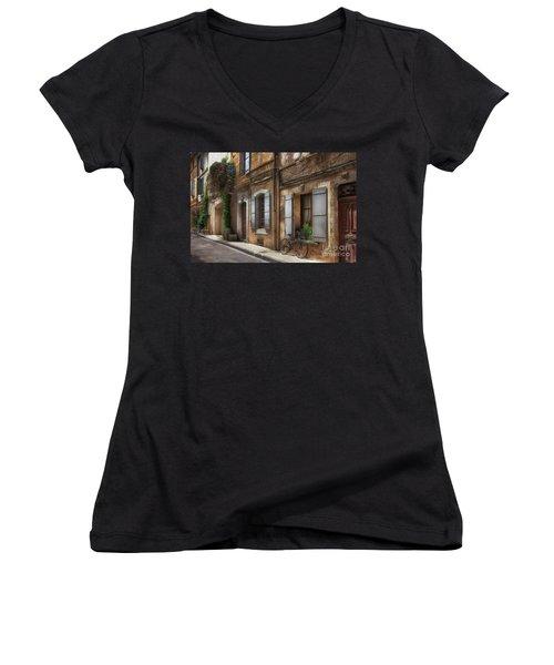 Provence Street Scene Women's V-Neck