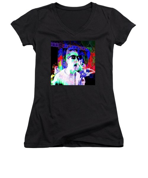 Psychedelic Who Women's V-Neck (Athletic Fit)