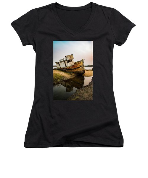 Pt. Reyes Shipwreck 1 Women's V-Neck (Athletic Fit)