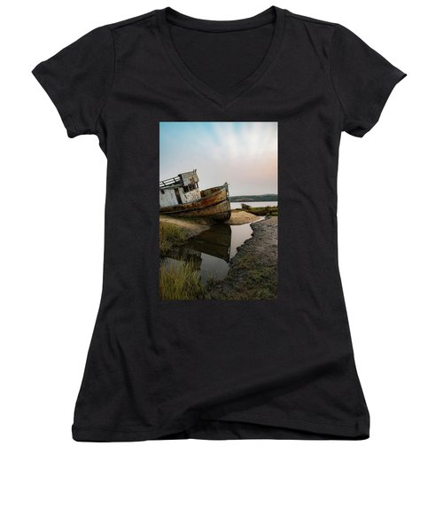 Pt. Reyes Shipwreck 4 Women's V-Neck (Athletic Fit)
