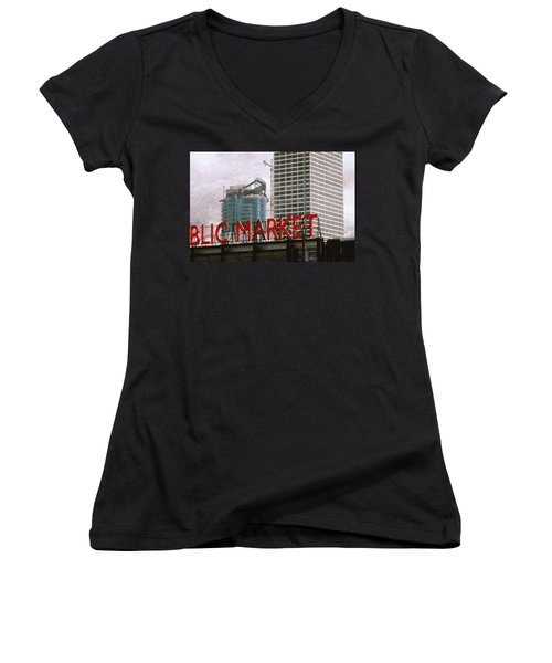 Public Market Women's V-Neck T-Shirt