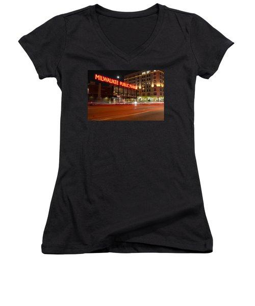 Public Market Women's V-Neck T-Shirt