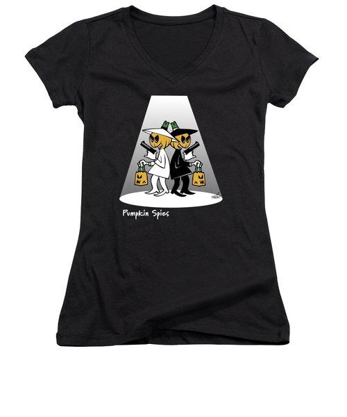 Pumpkin Spies Women's V-Neck T-Shirt