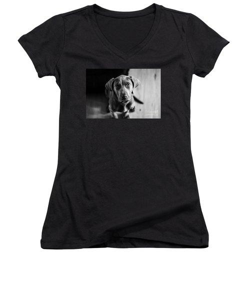 Puppy - Monochrome 1 Women's V-Neck