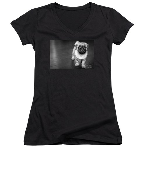 Puppy - Monochrome 2 Women's V-Neck