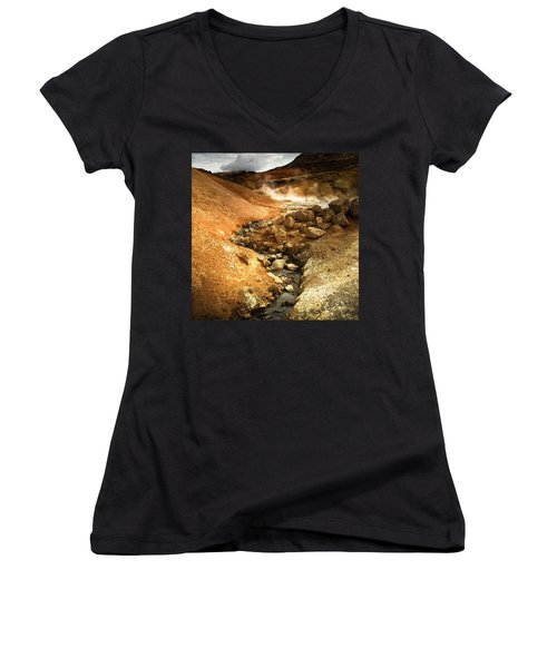 Pure Iceland - Geothermal Area Krysuvik Women's V-Neck T-Shirt