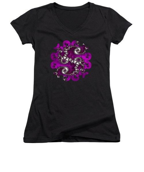 Purple Dragon Women's V-Neck T-Shirt