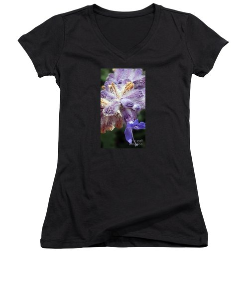 Purple Iced Blue New Mexico Wildflower Women's V-Neck (Athletic Fit)