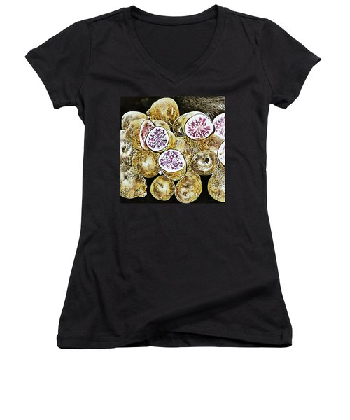 Purple Potatoes Mosaic Style Women's V-Neck (Athletic Fit)