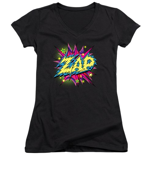 Purple Zap Women's V-Neck (Athletic Fit)