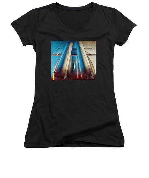 Pyramid Women's V-Neck T-Shirt (Junior Cut) by Belinda Threeths