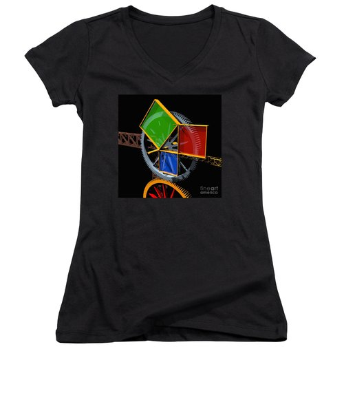 Pythagorean Machine Women's V-Neck (Athletic Fit)