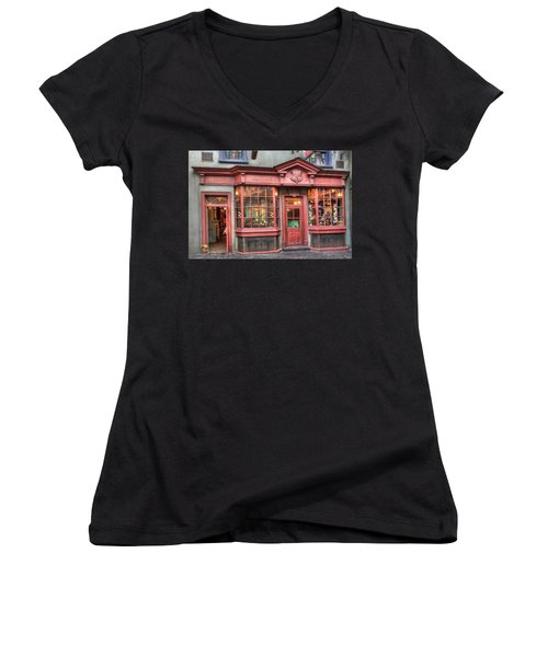 Women's V-Neck featuring the photograph Quality Quidditch Supplies by Jim Thompson