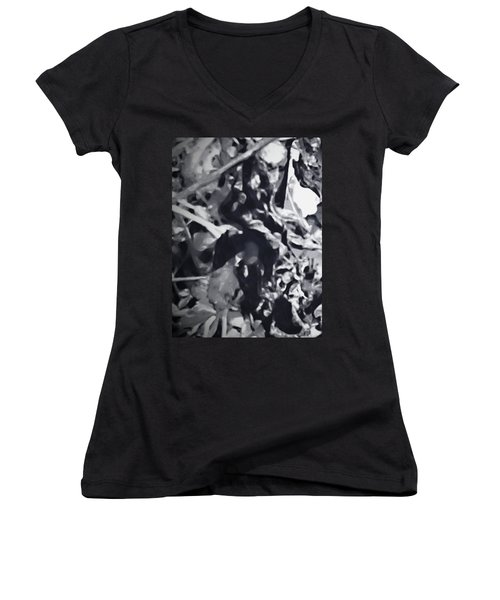 Queen Of Throne Women's V-Neck T-Shirt (Junior Cut) by Gina O'Brien